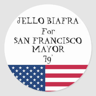 Jello for Mayor sticker