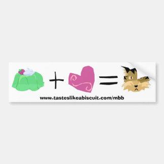 Jello + Love = Kitty Bumper Sticker
