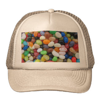 Jelly Bean black blue green Candy Texture Template Cap