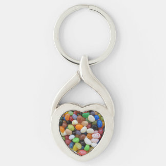 Jelly Bean black blue green Candy Texture Template Key Ring