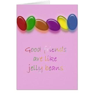 Jelly bean friends card