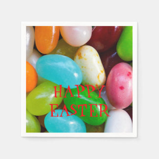 Jelly Bean Happy Easter Paper Napkin