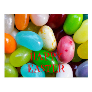 Jelly Bean Happy Easter Postcard