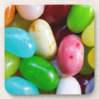Jelly Bean Hard Plastic Drink Coaster