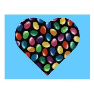 Jelly Bean Heart Postcard