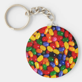 Jelly Beans Basic Round Button Key Ring