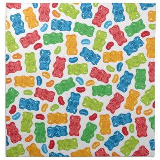 Jelly Beans & Gummy Bears Pattern Napkin