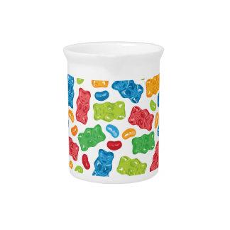 Jelly Beans & Gummy Bears Pattern Pitcher