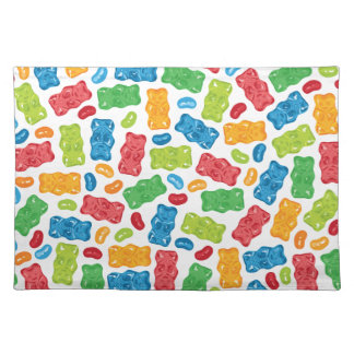 Jelly Beans & Gummy Bears Pattern Placemat