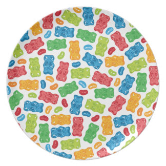 Jelly Beans & Gummy Bears Pattern Plate