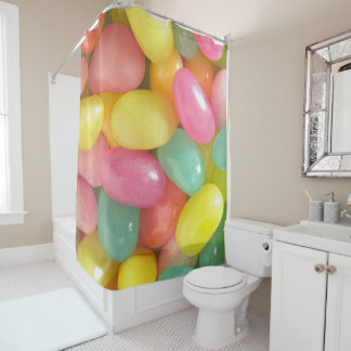 Jelly Beans on Shower Curtain
