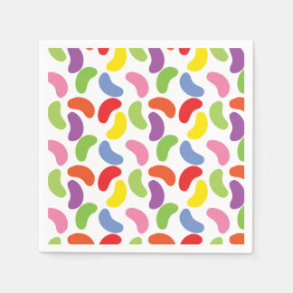 Jelly Beans Pattern Colorful Cute Disposable Serviette
