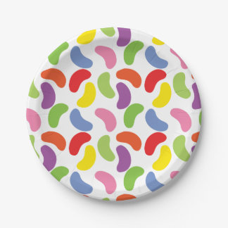 Jelly Beans Pattern Colorful Cute Paper Plate