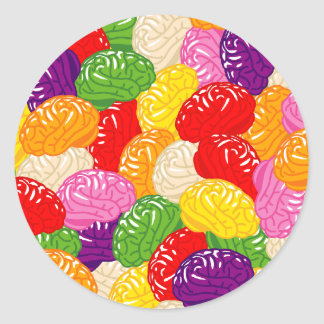 Jelly Brains Classic Round Sticker