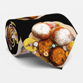 Jelly Donuts, Latkes, Dreidels & Gelt Tie