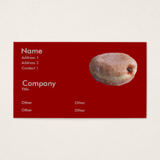 Jelly Filled Donut Business Card