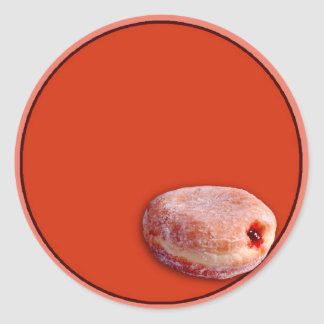 Jelly Filled Donut Round Sticker