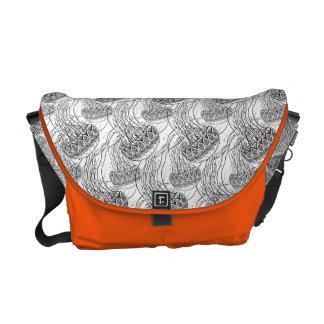 Jelly Fish Doodle Messenger Bag