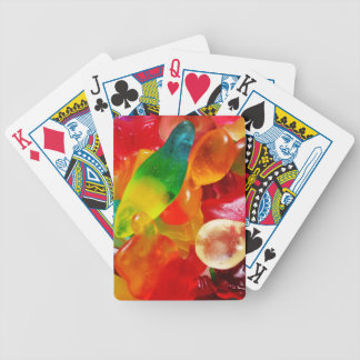 jelly gum bicycle playing cards