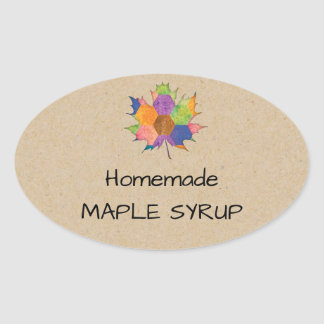 Jelly Jar Homemade Maple Syrup Sticker