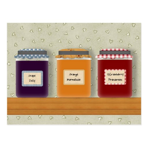 Jelly Jars Recipe Card Postcards