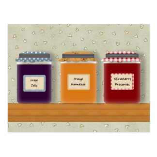 Jelly Jars Recipe Cards Postcard
