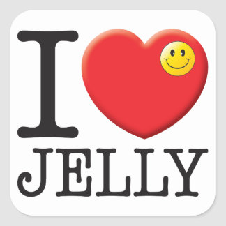 Jelly Love Square Stickers