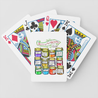 Jelly of the Month Club Funny Christmas Bicycle Playing Cards