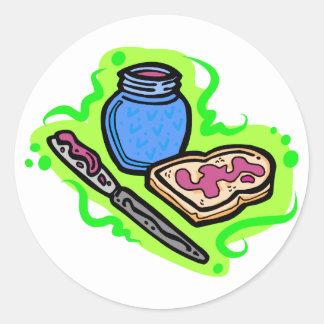 Jelly on bread round sticker
