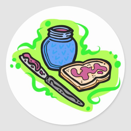 Jelly on bread stickers