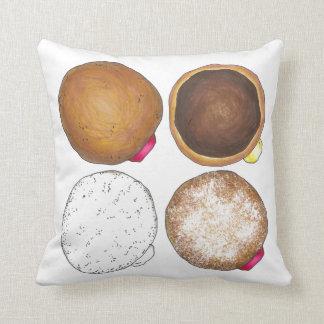 Jelly Powdered Boston Cream Donut Doughnut Pillow