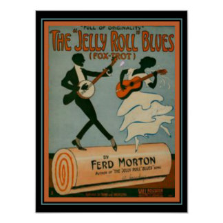 """""""Jelly Roll Blues"""" Fox Trot Sheet Music Cover Poster"""