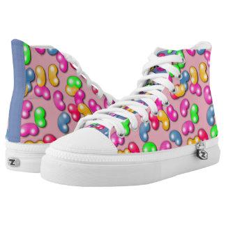 Jellybean Queen High Tops, Cotton Candy Pink High Tops