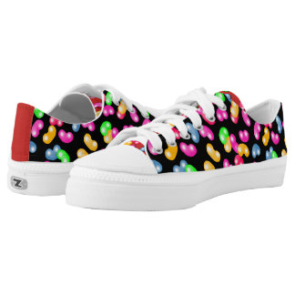 Jellybean Queen Low Tops, Cherry Red + Licorice Printed Shoes