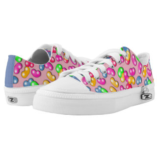 Jellybean Queen Low Tops, Cotton Candy Pink Low Tops