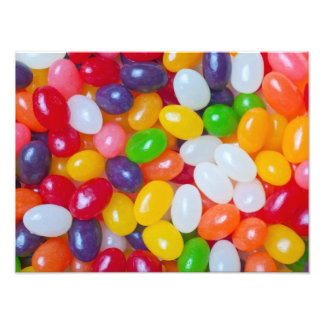 Jellybeans Background - Easter Jelly Beans Photographic Print