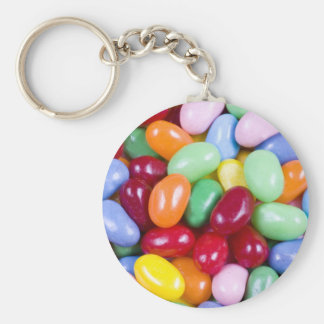 Jellybeans Basic Round Button Key Ring