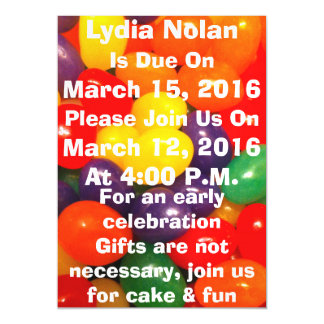 Jellybeans Magnetic Baby Shower Announcement Magnetic Invitations