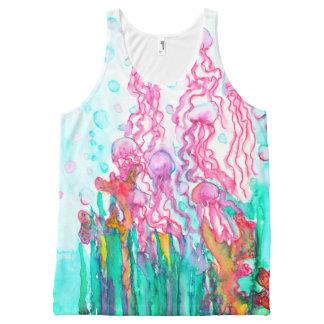 Jellyfish Art All-Over Print Tank Top