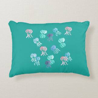 Jellyfish Brushed Polyester Accent Pillow