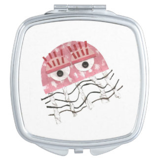 Jellyfish Comb Compact Mirror