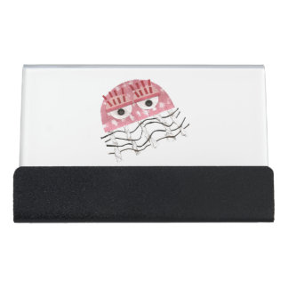 Jellyfish Comb Desk Business Card Holder