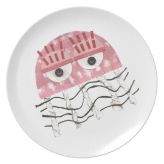 Jellyfish Comb Melamine Plate