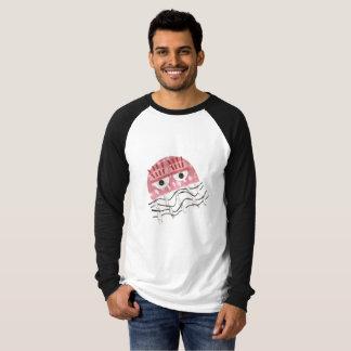 Jellyfish Comb No Background Men's Raglan Top