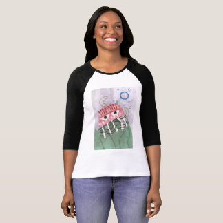 Jellyfish Comb Women's Raglan Top