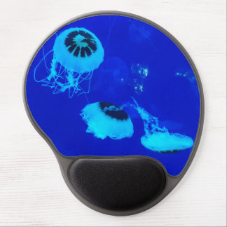 Jellyfish in Mexico (Blue) Gel Mouse Pad
