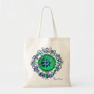 Jellyfish Mandala Add Your Text Yoga Gift Tote Bag
