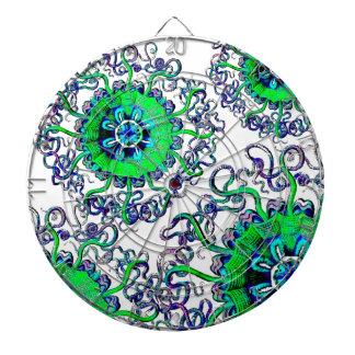 Jellyfish Mandala Pop Art Graphic Design Game Dartboards