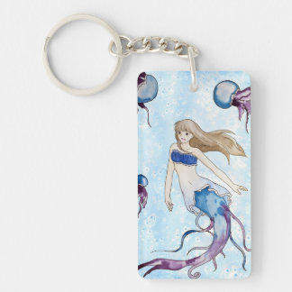 Jellyfish Mermaid Key Ring