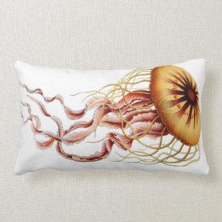 Jellyfish Nautical Beach Decorative Lumbar Pillow
